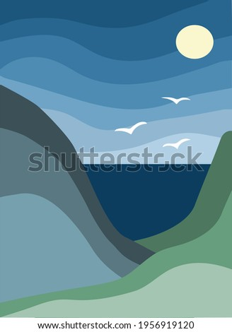 minimalist landscape abstract