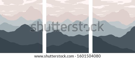 minimalist landscape rolling