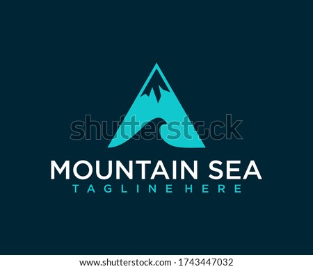 minimalist mountain and wave