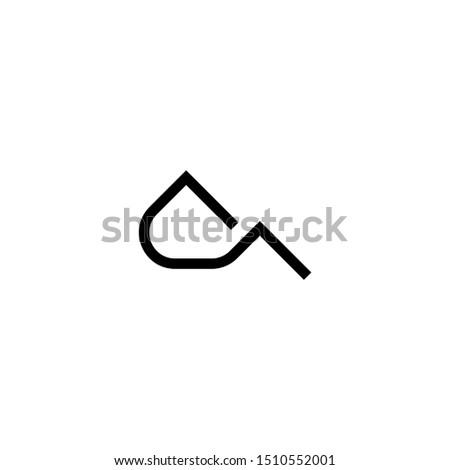 minimalist mountain logo concept. line art mountain