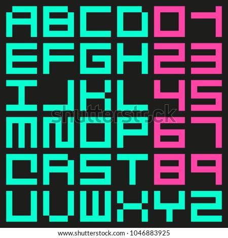 minimalist rectangular pixel