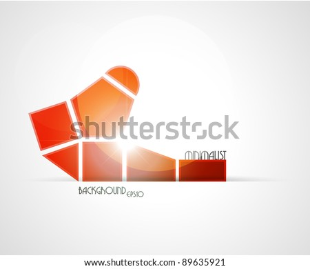 Minimalist red background. Vector illustration.