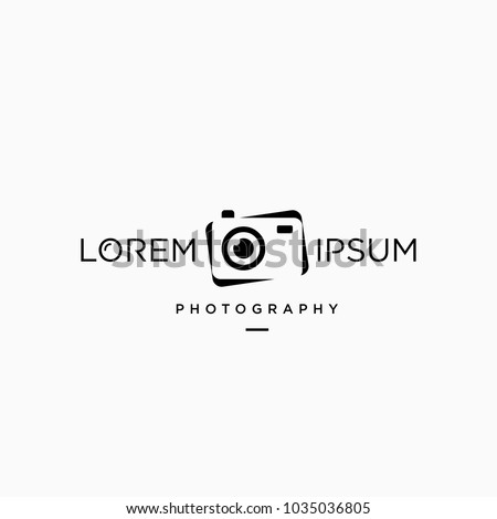 Minimalist Simple Modern Camera Photography Logo Concept
