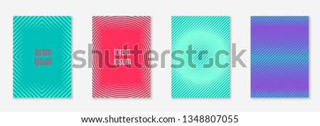 Minimalist trendy cover. Creative book, booklet, notebook, annual report concept. Red and green. Minimalist trendy cover with line geometric elements and shapes.