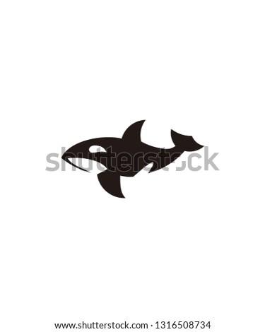 Minimalist Vector Whale Logo