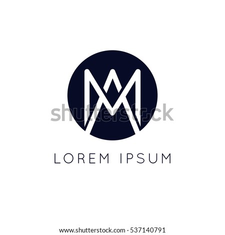 minimalistic am logo circle