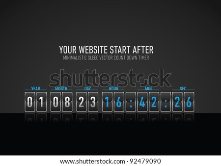 minimalistic and hight detailed sleec vector count down timer