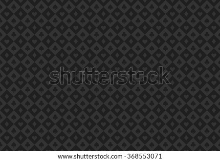 Minimalistic black poker background with seamless texture composed from card symbols