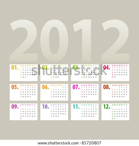 stock-vector-minimalistic-calendar-design-week-starts-with-sunday