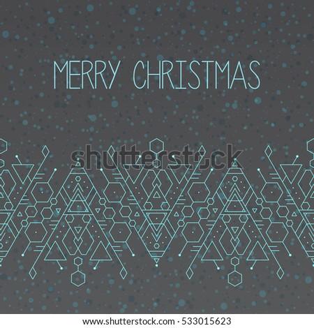 Minimalistic Christmas trendy geometric pattern card