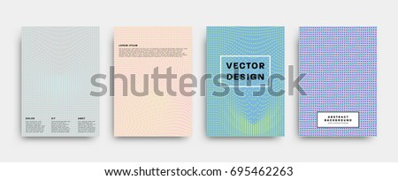 Minimalistic covers set | Geometric futuristic design