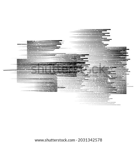 Minimalistic Creative concept . Flat style . Geometric lines and design elements form unusual shape . Vector abstract background . Grunge textured poster .