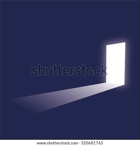 minimalistic door in a dark