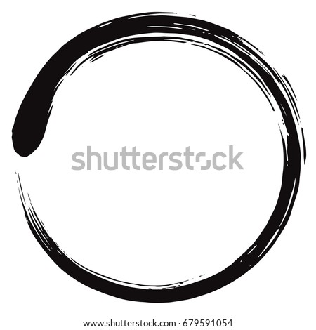 minimalistic enso zen circle