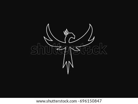 minimalistic flying bird that