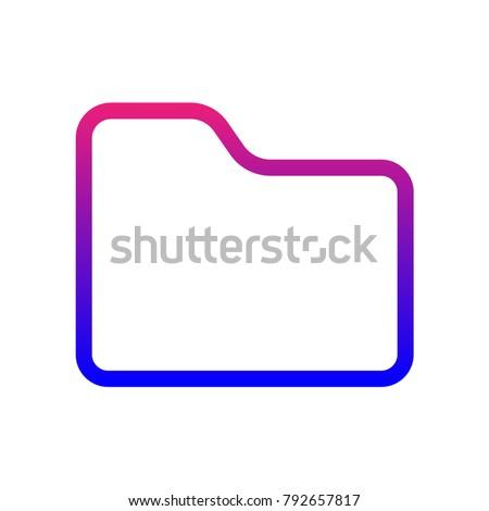 minimalistic folder icon