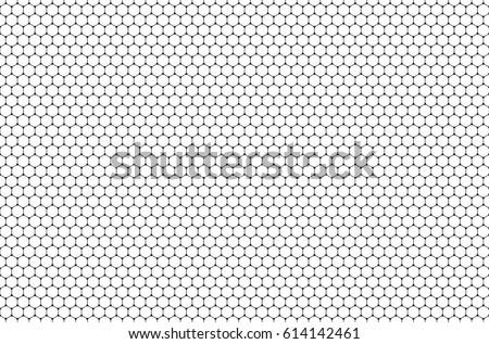 Minimalistic Hexagon Seamless Pattern. Geometric Graphic Design Background. Simple Fabric Ornament. Vector Illustration.