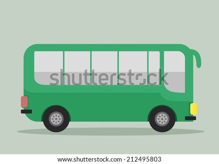 minimalistic illustration of a bus, eps10 vector