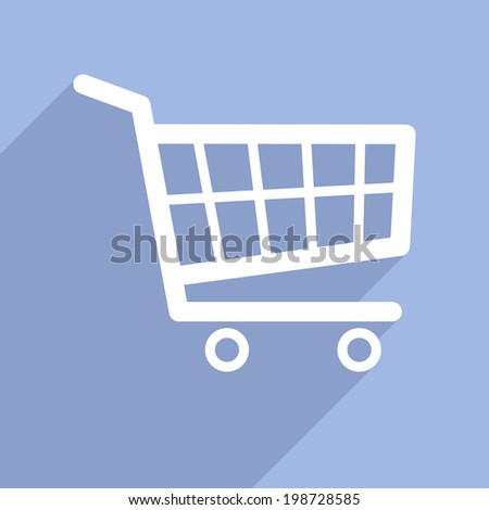 minimalistic illustration of a shopping cart icon, eps10 vector