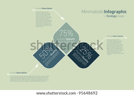 minimalistic infographic for eclology usage - stock vector