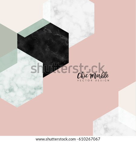 Minimalistic Marble Modern Shapes Vector Design