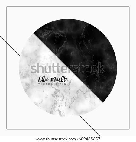 minimalistic marble vector