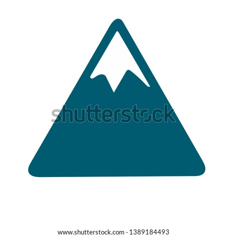 minimalistic mountains in vector image
