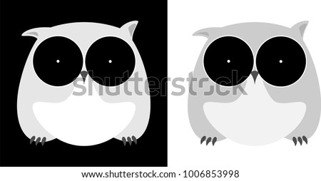 minimalistic owl isolated on a