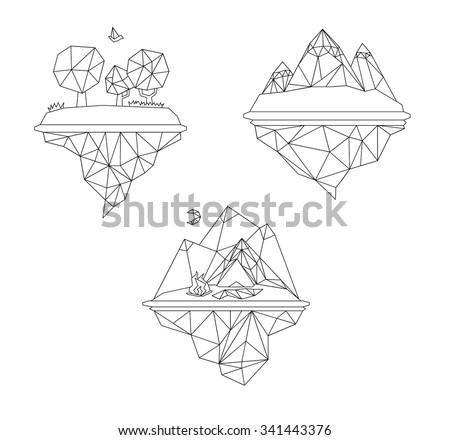 minimalistic polygon islands