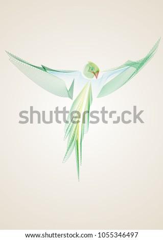 minimalistic portrait of a
