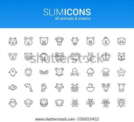 minimalistic slim line animals