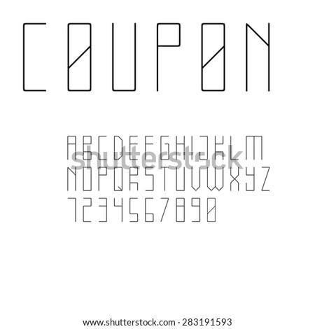 minimalistic style sans serif