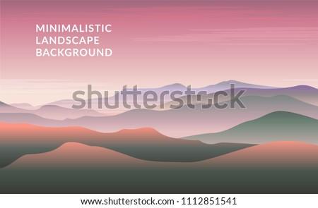 minimalistic vector landscape