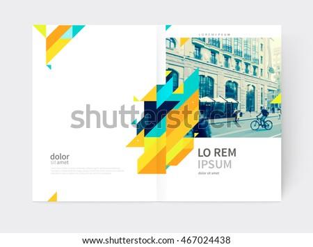 minimalistic yellow brochure