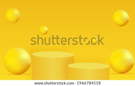 minimalistic yellow podium