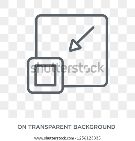 Minimize icon. Minimize design concept from  collection. Simple element vector illustration on transparent background.