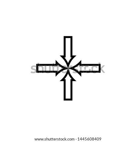 minimize icon vector, minimize solid illustration, pictogram isolated on black