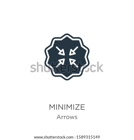 Minimize icon vector. Trendy flat minimize icon from arrows collection isolated on white background. Vector illustration can be used for web and mobile graphic design, logo, eps10