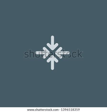 Minimize vector icon. Minimize concept stroke symbol design. Thin graphic elements vector illustration, outline pattern for your web site design, logo, UI. EPS 10.
