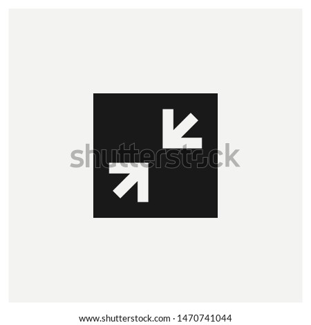minimize window icon vector sign illustration