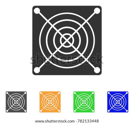 Mining Asic Hardware icon. Vector illustration style is a flat iconic mining asic hardware symbol with grey, green, blue, yellow color variants. Designed for web and software interfaces.