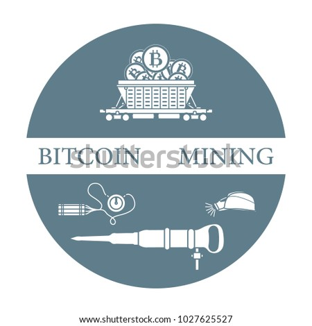 mining of bitcoins railway car