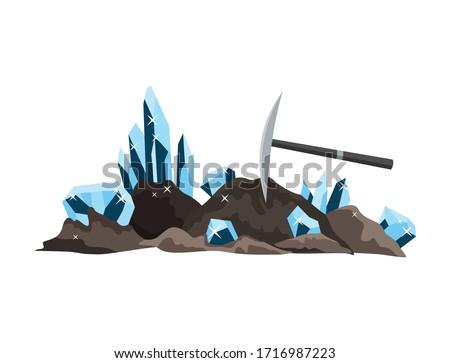 Mining of precious stones, rubies, diamonds