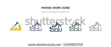 mining work zone icon in