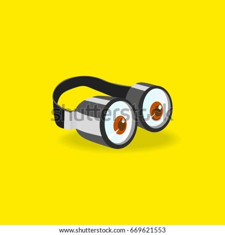 minions goggles icon concept