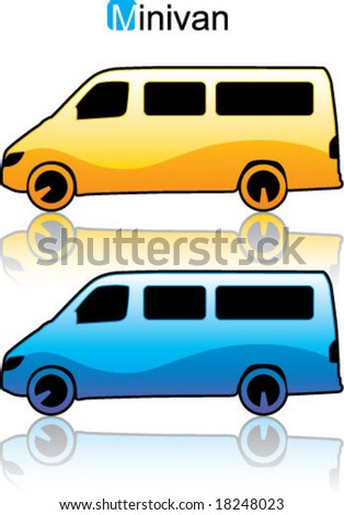 Minivan Car glossy illustration