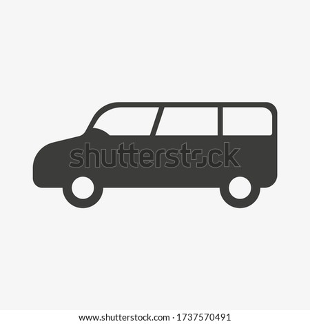minivan vector icon mpv car