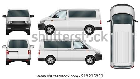 minivan vector template on