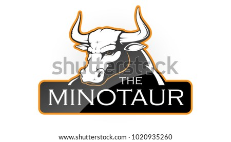 minotaur on a white background