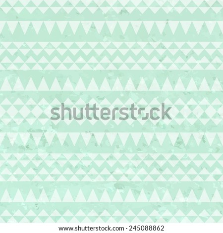 mint watercolor background with geometric triangle pattern